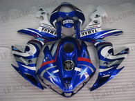 OEM quality fairings and body kits for 2004 2005 2006 Yamaha YZF-R1 with blue fiat star color scheme/graphics, these fairing kits are oem quality, fast shipping and easy installtion. More factory color-matched fairings for YZF-R1 2004 2005 2006, team race replica fairings and custom fairing sets for Yamaha YZF-R1 2004 2005 2006, please browse iFairings.com.