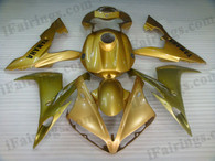 OEM quality fairings and body kits for 2004 2005 2006 Yamaha YZF-R1 with gold color scheme/graphics, these fairing kits are oem quality, fast shipping and easy installtion. More factory color-matched fairings for YZF-R1 2004 2005 2006, team race replica fairings and custom fairing sets for Yamaha YZF-R1 2004 2005 2006, please browse iFairings.com.