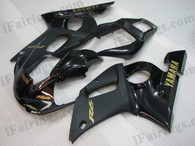 OEM quality fairings and body kits for 1998 1999 2000 2001 2002 Yamaha YZF-R6 with black color scheme/graphics, these fairing kits are oem quality, fast shipping and easy installtion. More factory color-matched fairings for YZF-R6 1998 1999 2000 2001 2002, team race replica fairings and custom fairing sets for Yamaha YZF-R6 1998 1999 2000 2001 2002, please browse iFairings.com.