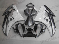 OEM quality fairings and body kits for 2006 2007 Yamaha YZF-R6 with white and grey color scheme/graphics, these fairing kits are oem quality, fast shipping and easy installtion. More factory color-matched fairings for YZF-R6 2006 2007, team race replica fairings and custom fairing sets for Yamaha YZF-R6 2006 2007, please browse iFairings.com.