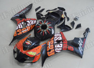 Honda CBR1000RR 2006 2007 Rossi Repsol fairing kits, this Honda CBR1000RR 2006 2007 plastics was applied in Rossi Repsolgraphics, this 2006 2007 CBR1000RR fairing set comes with the both color and decals shown as the photo.If you want to do custom fairings for CBR1000RR 2006 2007,our talented airbrusher will custom it for you