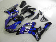 OEM replacement motorcycle fairing kits for Yamaha YZF-R1 2000 2001 with Rossi Repsol MotoGP graphic. This fairing kit is a R1 2000 2001 Rossi Repsol MotoGP graphic and with the Rossi Repsol MotoGP decals/stickers.