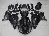 OEM quality fairings and body kits for 2006 2007 2008 2009 2010 2011 Kawasaki ZX14R with matte black color scheme/graphics, these fairing kits are oem quality, fast shipping and easy installtion. More factory color-matched fairings for ZX14R 2006 2007 2008 2009 2010 2011, team race replica fairings and custom fairing sets for Kawasaki ZX14R 2006 2007 2008 2009 2010 2011, please browse iFairings.com.