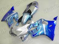 Motorcycle fairings/bodywork for Honda CBR600 F4 1999 2000 blue and silver.