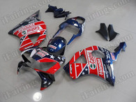 OEM quality fairings and body kits for 2002 2003 Honda CBR954RR with SevenStars color scheme/graphics, these fairing kits are oem quality, fast shipping and easy installtion. More factory color-matched fairings for CBR954RR 2002 2003, team race replica fairings and custom fairing sets for Honda CBR954RR 2002 2003, please browse iFairings.com.