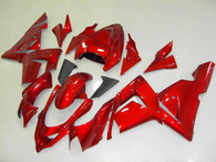 Kawasaki ZX10R 2004 2005 candy red fairing kits, this Kawasaki ZX10R 2004 2005 plastics was applied in candy redgraphics, this 2004 2005 ZX10R fairing set comes with the both color and decals shown as the photo.If you want to do custom fairings for ZX10R 2004 2005,our talented airbrusher will custom it for you.