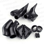 2005 2006 Honda CBR600RR Stock ram air duct / air intake tube replacement, ABS plastic material made and precise fitment, no need adjustment, just bolts on the original position.