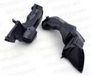 2008-2010 Suzuki GSXR600, GSXR750 Stock ram air duct / air intake tube replacement, ABS plastic material made and precise fitment, no need adjustment, just bolts on the original position.