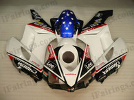 Honda CBR1000RR 2004 2005 CARRERA fairing kits, this Honda CBR1000RR 2004 2005 plastics was applied in CARRERAgraphics, this 2004 2005 CBR1000RR fairing set comes with the both color and decals shown as the photo.If you want to do custom fairings for CBR1000RR 2004 2005,our talented airbrusher will custom it for you.
