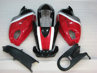 Motorcycle fairings for Ducati Monster 696/796/1100 red and black, these fairings are injection molded and 100% fit factory bike. All the fairings are fast and free shipping.