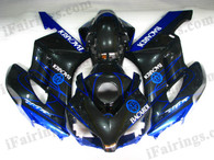 Honda CBR1000RR 2004 2005 BACARDI fairing kits, this Honda CBR1000RR 2004 2005 plastics was applied in BACARDIgraphics, this 2004 2005 CBR1000RR fairing set comes with the both color and decals shown as the photo.If you want to do custom fairings for CBR1000RR 2004 2005,our talented airbrusher will custom it for you