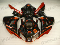 iFairings.com offer oem comparable quality fairings for Honda 2006 2007 CBR1000RR red and black. These oem quality fairings and body kits are manufactured by original kind of material ABS with injection mold technology, which ensure our fairings and body kits being the same durable as the original fairings as well as 100% fitment. Double UV base protection painting plus clear coat covering on the decal and make our fairings oem factory look