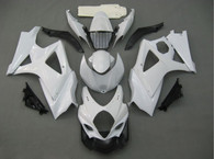 Suzuki GSXR1000 2007 2008 pearl white fairing kits, this Suzuki GSXR1000 2007 2008 plastics was applied in pearl white graphics, this 2007 2008 GSXR1000 fairing set comes with the both color and decals shown as the photo.If you want to do custom fairings for GSXR1000 2007 2008,our talented airbrusher will custom it for you.