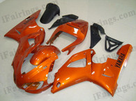 Yamaha YZF-R1 1998 1999 orange fairing kits, this Yamaha YZF-R1 1998 1999 plastics was applied in orangegraphics, this 1998 1999 YZF-R1 fairing set comes with the both color and decals shown as the photo.If you want to do custom fairings for YZF-R1 1998 1999,our talented airbrusher will custom it for you.