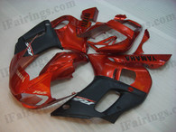 Yamaha YZF-R1 1998 1999 orange and black fairing kits, this Yamaha YZF-R1 1998 1999 plastics was applied in orange and blackgraphics, this 1998 1999 YZF-R1 fairing set comes with the both color and decals shown as the photo.If you want to do custom fairings for YZF-R1 1998 1999,our talented airbrusher will custom it for you.