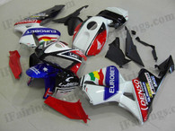 Honda CBR600RR 2003 2004 Eurobet fairing kits, this Honda CBR600RR 2003 2004 plastics was applied in Eurobet graphics, this 2003 2004 CBR600RR fairing set comes with the both color and decals shown as the photo.If you want to do custom fairings for CBR600RR 2003 2004,our talented airbrusher will custom it for you