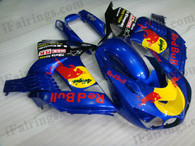 Kawasaki ZX14R 2006 2007 2008 2009 red bull replica fairing kits, this Kawasaki ZX14R 2006 2007 2008 2009 plastics was applied in red bull replica graphics, this 2006 2007 2008 2009 ZX14R fairing set comes with the both color and decals shown as the photo.If you want to do custom fairings for ZX14R 2006 2007 2008 2009,our talented airbrusher will custom it for you.