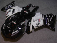 Kawasaki ZX14R 2006 2007 2008 2009 west replica fairing kits, this Kawasaki ZX14R 2006 2007 2008 2009 plastics was applied in west replica graphics, this 2006 2007 2008 2009 ZX14R fairing set comes with the both color and decals shown as the photo.If you want to do custom fairings for ZX14R 2006 2007 2008 2009,our talented airbrusher will custom it for you.