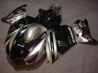 Kawasaki ZX14R 2006 2007 2008 2009 silver/black monster fairing kits, this Kawasaki ZX14R 2006 2007 2008 2009 plastics was applied in silver/black monstergraphics, this 2006 2007 2008 2009 ZX14R fairing set comes with the both color and decals shown as the photo.If you want to do custom fairings for ZX14R 2006 2007 2008 2009,our talented airbrusher will custom it for you