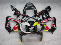 Honda CBR900RR 929 2000 2001 red bull fairing kits, this Honda CBR900RR 929 2000 2001 plastics was applied in red bull graphics, this 2000 2001 CBR900RR 929 fairing set comes with the both color and decals shown as the photo.If you want to do custom fairings for CBR900RR 929 2000 2001,our talented airbrusher will custom it for you