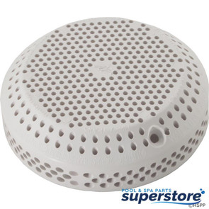 "Waterway Plastics | Suction Cover, WW 3-1/2"" Hi-Flo, 2-3/8""hs, Wht 