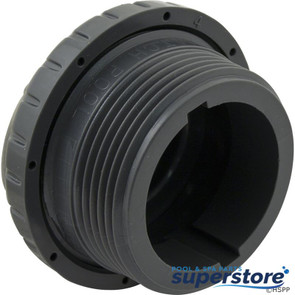 "Infusion Pool Products | Inlet Fitting, Infusion Venturi, 1-1/2""mpt, Dk Gray 