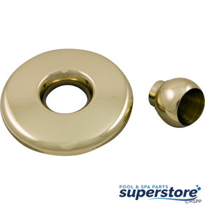 Balboa Water Group/GG | GG Mini Jet Thd Escutcheon & Eyeball Assy, Metal Brass | 28020PB