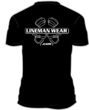 Lineman Wear logo t-shirt!  Logo on front left chest.  .com on back.