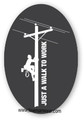 "Another great hard hat sticker from Lineman Wear.  Says it all ""Just a Walk to Work"""