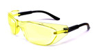Safety Glasses Z87.1+ Safety Rated in Black w/ Yellow Lens