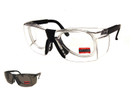 Safety Glass Z87.1+ Safety Rated-Black w/ Optical Rx Inserts STS-401/PR