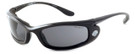 Harley-Davidson HDSZ702 Safety Glasses Sport Wrap-Around Design with Foam Inserts (Black Frame & Grey Lens)
