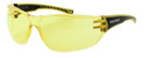 Harley-Davidson HDVZ103 Safety Glasses Sport Wrap-Around Design (Black Frame & Yellow Lens)