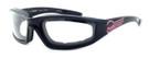 Harley-Davidson HDSZ-PK04 Safety Glasses Sport Wrap-Around Design with Foam Inserts (Black Frame & Clear Lens)