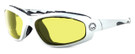 Harley-Davidson HDSZ909 Safety Glasses Sport Wrap-Around Design with Foam Inserts (Silver Frame & Yellow Lens)