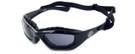 Harley-Davidson HDS6001 Safety Glasses Sport Wrap-Around Design with Strap & Foam Inserts (Black Frame & Grey Lens)