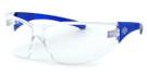 Harley-Davidson HDVZ102 Safety Glasses Sport Wrap-Around Design (Blue Frame & Clear Lens)