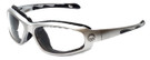 Harley-Davidson Official Designer Safety Eyewear HDSZ709-SI in Silver Frame with Clear Lens
