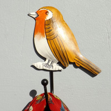 Robin - Woodland bird coat hook from www.lovehooks.co.uk