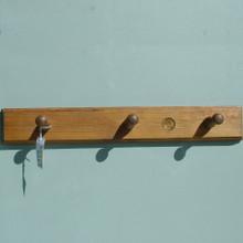 Best Quality English Made Pine three hook Coat Rack