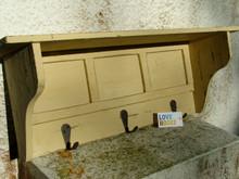 Distressed Shelf Coat rack
