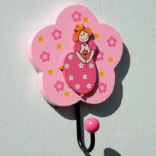 Flower Princess Pink Coat Hook