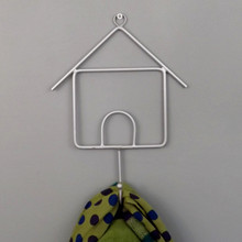 Grey Wire HOUSE Coat Hook
