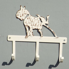 Tin and metal Dog Coat Rack