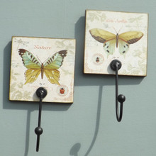 Pair of Butterfly Collectors Coat Hooks