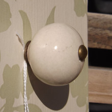Cream Ceramic Drawer Knob