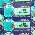 Sony 319 - SR527 Silver Oxide Button Battery 1.55V - 50 Pack + FREE SHIPPING!