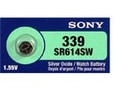 Sony 339 - SR614 Silver Oxide Button Battery 1.55V