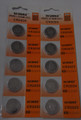 BBW CR2025 3V Lithium Coin Battery 10 Pack + FREE SHIPPING!