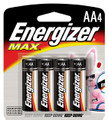 Energizer Max AA - 4 Pack Retail